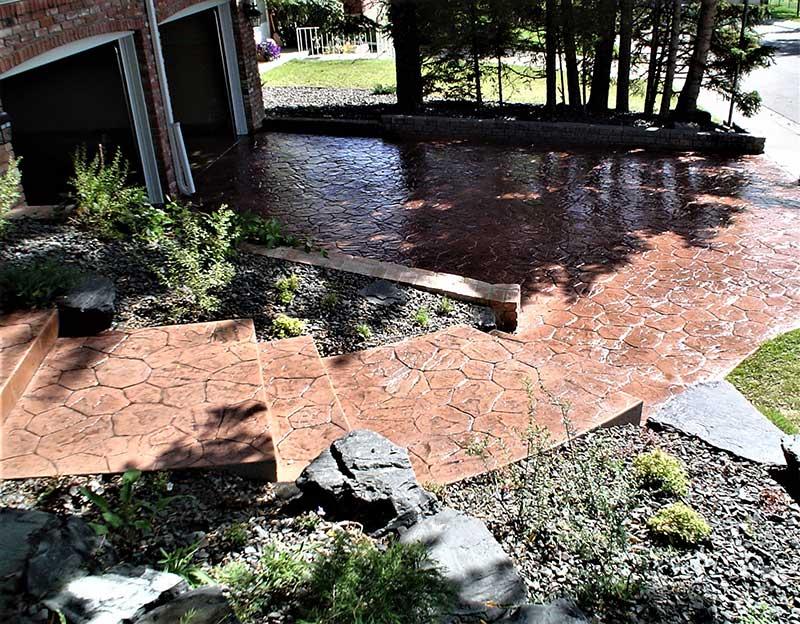 Plants with Concrete Walkway