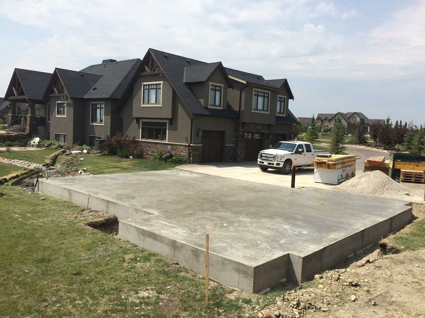 Big Home with Concrete Driveway