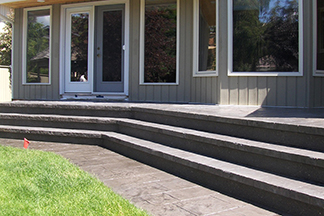 Stamped Stairs with Grass