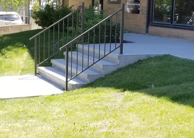 Store front concrete stairs in Alberta