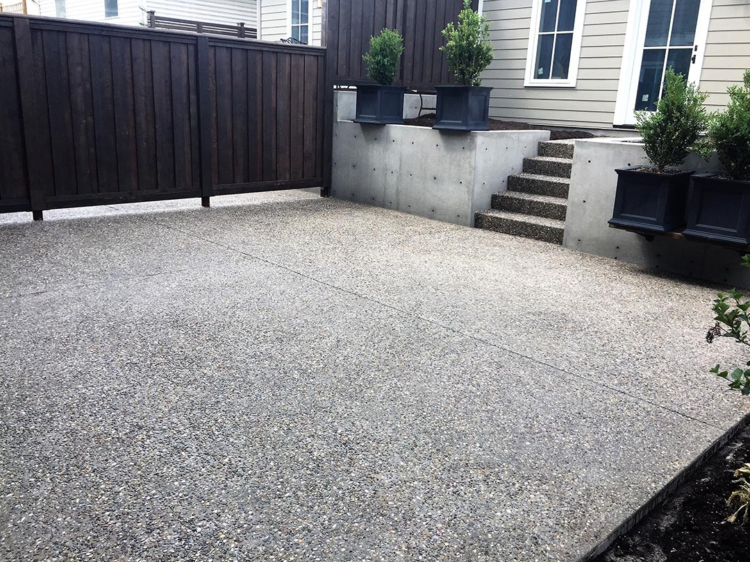Forty Five Exposed Aggregate Patio