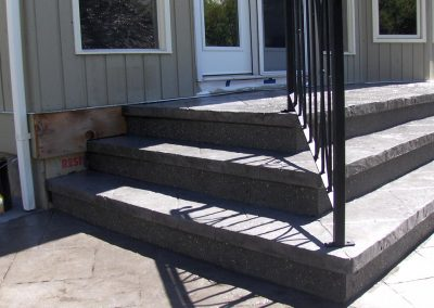 Stairs with black rail