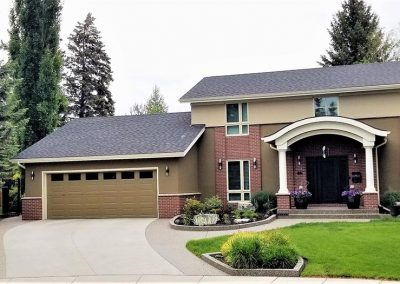 Big Home with Brown Garage Door