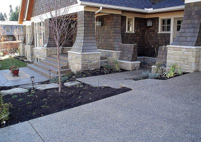 Concrete and Dirt Yard