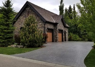 Concrete Driveway with Two Doors