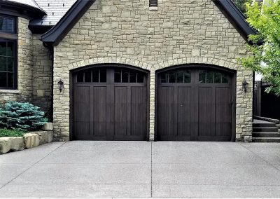 Two Garage Doors of House