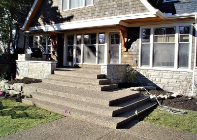 Finished Home with Concrete Stairs