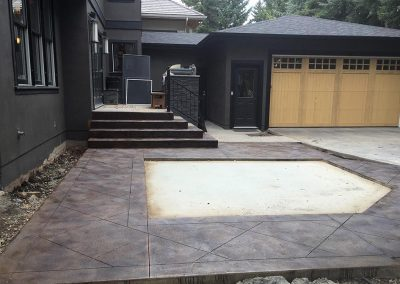 Stamped Concrete Decoration and Stairs
