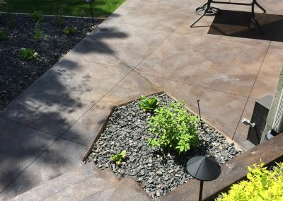Concrete Patio and Table