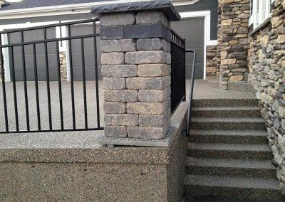 Concrete Steps and Wall