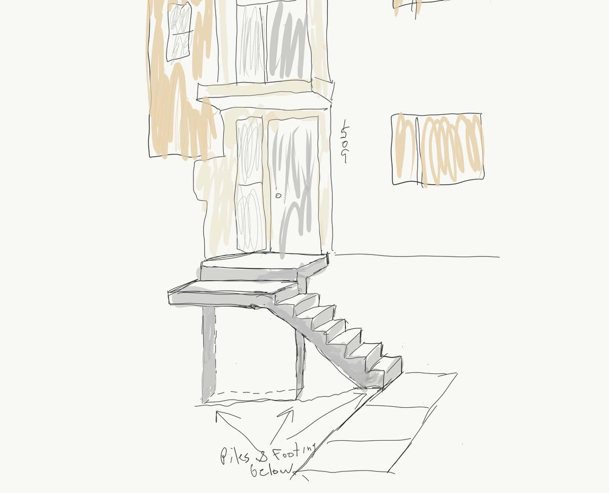 Concrete Steps Sketch