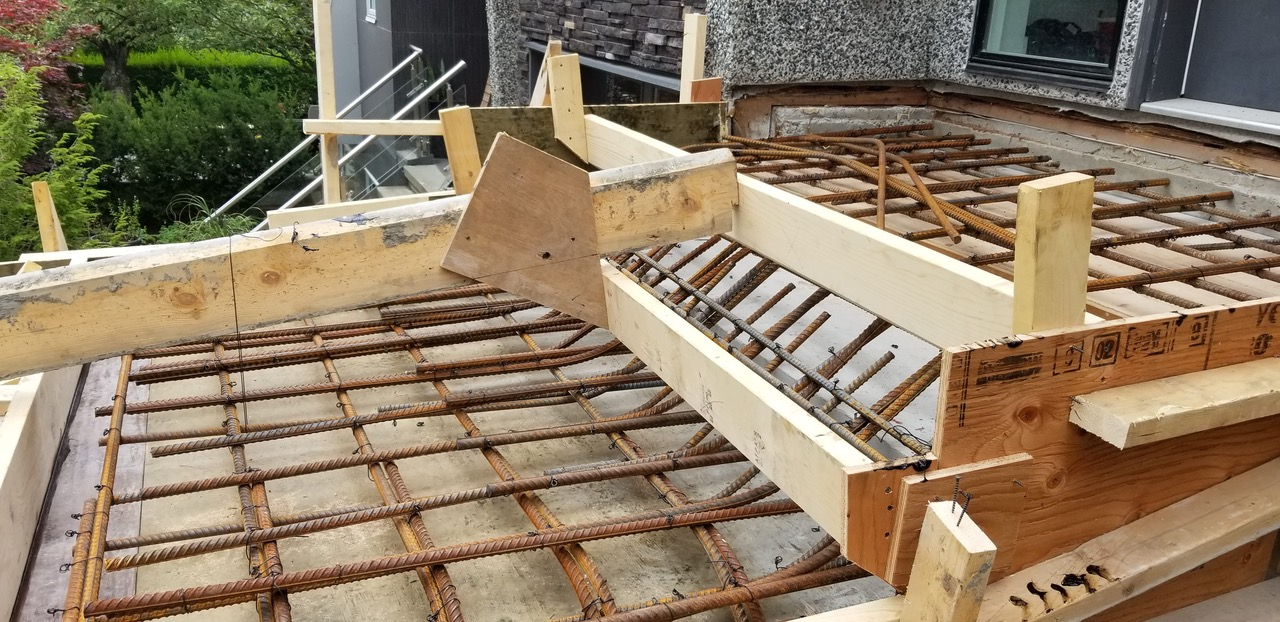 Wood Steps Rebar