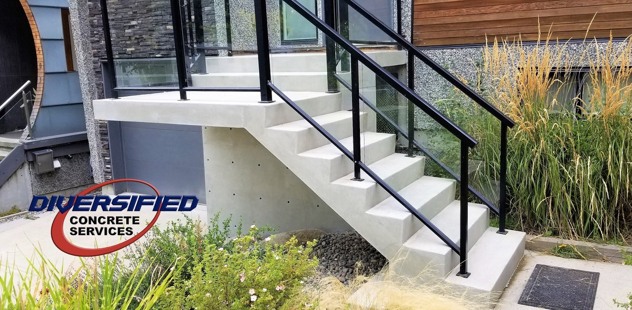 Wood Steps Turn to Concrete Steps