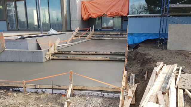 Fresh Cement Poured