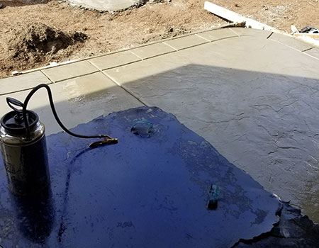 Wet Cement on Pad