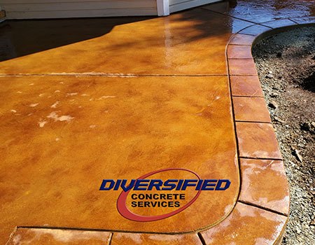 Finished Acid Stained Concrete
