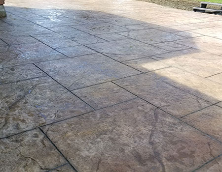 Finished Stamped Concrete