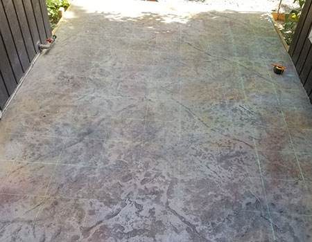 Natural Rock Stamped Concrete