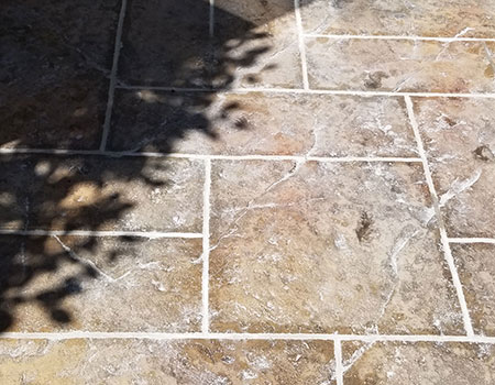 Grouted Stamped Concrete