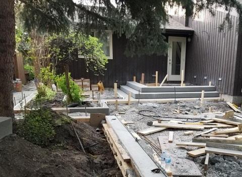 Concrete Steps Mid-Construction