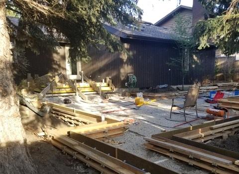 Backyard Under Construction