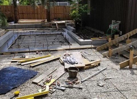 Construction Tools in Yard