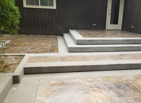 Steps with Stamped Concrete
