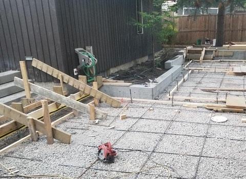 Yard Concrete Construction Rebar