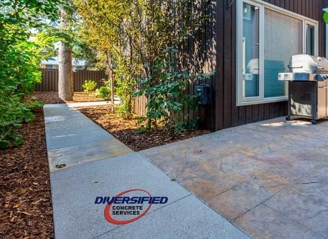 Sidewalk in the Yard